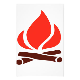 hot fire in fireplace stationery