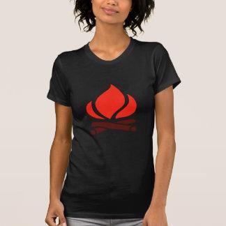 hot fire in fireplace T-Shirt