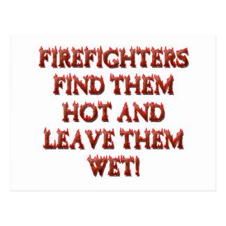 HOT FIREFIGHTERS POSTCARD