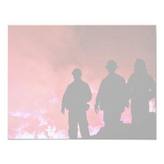 Hot Fireman Silhouette Card