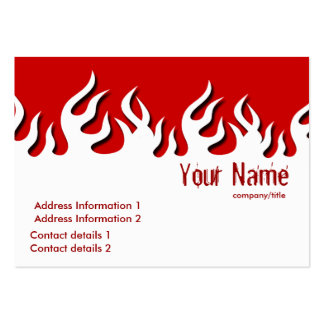 Hot Flamazee Profile Card Pack Of Chubby Business Cards