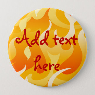 Hot flames 10 cm round badge