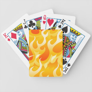 Hot flames bicycle playing cards