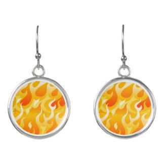Hot flames earrings
