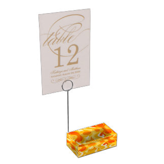 Hot flames table card holder