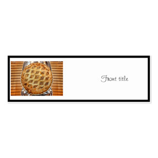 Hot Fresh Apple Pie Pack Of Skinny Business Cards
