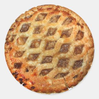 Hot Fresh Apple Pie Classic Round Sticker