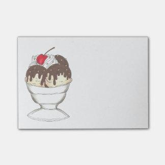 Hot Fudge Ice Cream Sundae Cherry Food Post Its Post-it Notes