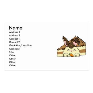 Hot Fudge Vanilla Hopdrop And Cake Business Card