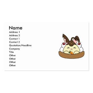 Hot Fudge Vanilla Hopdrop Waffle Sundae Business Card Template