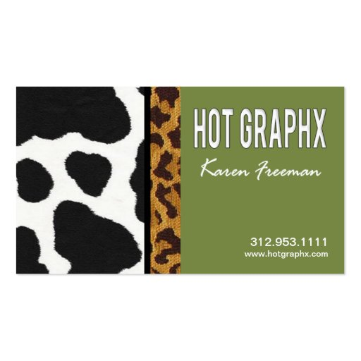 Hot Graphx Artist Graphic Designer Business Card
