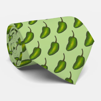 Hot Green Jalapeño Pepper Peppers Jalapenos Tie