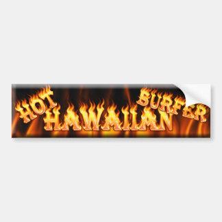 hot hawaiian surfer bumper sticker