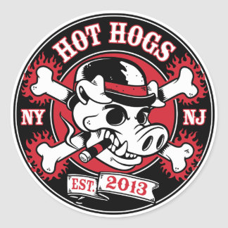 Hot Hogs™ Classic Round Sticker