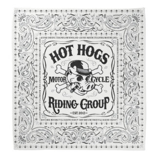 Hot Hogs™ Classic White Bandanna
