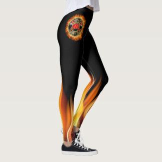 HOT HOT Fire Department Pop Leggings