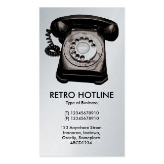 Hot Line - White (Platinum) Pack Of Standard Business Cards