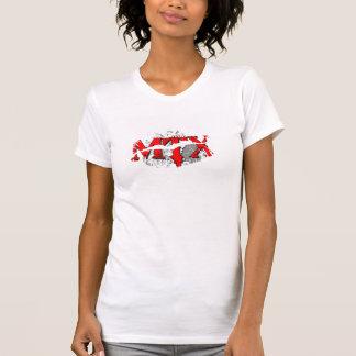 Hot Lips Ladies AA Cap Sleeve - Customized Tee Shirt