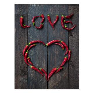 Hot love postcard