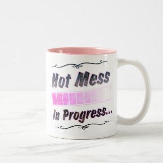 Hot Mess...In Progress Two-Tone Mug