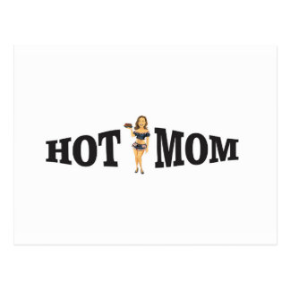 hot mom yeah postcard