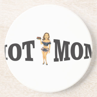 hot mom yeah sandstone coaster