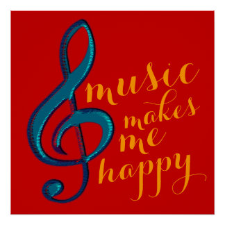 hot music makes me happy poster