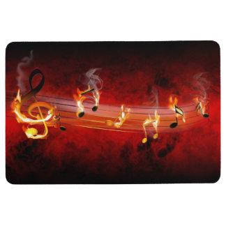 Hot Music Notes Floor Mat