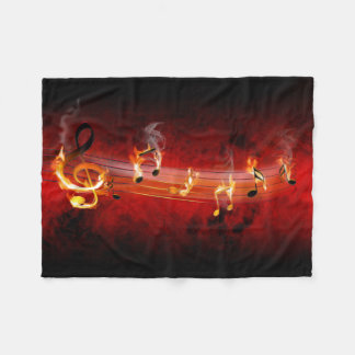 Hot Music Notes Small Fleece Blanket