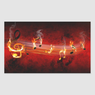 Hot Music Notes Stickers