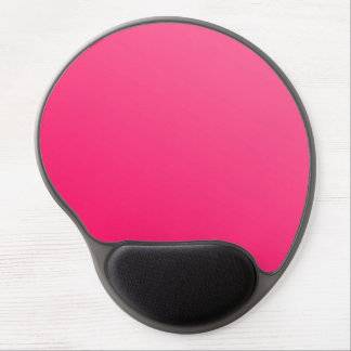 Hot Neon Bright Pink Black Gel Mousepad
