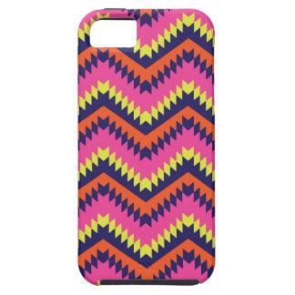 Hot Neon Chevron Tribal Pattern Orange Pink iPhone 5 Cover