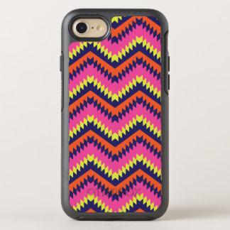 Hot Neon Chevron Tribal Pattern Orange Pink OtterBox Symmetry iPhone 8/7 Case