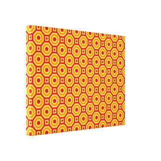 Hot Nested Octagons Wrapped Canvas