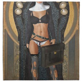 Hot nun in chuch in bikini napkins