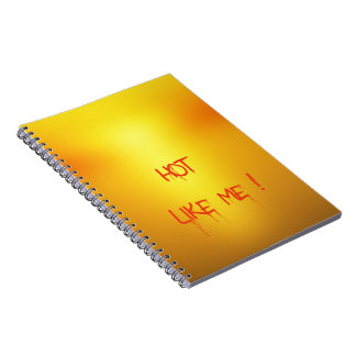 Hot Orange. Spiral Notebook