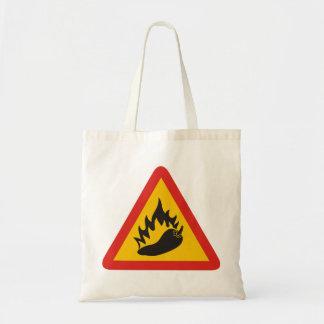 Hot pepper danger sign