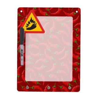 Hot pepper danger sign Dry-Erase board