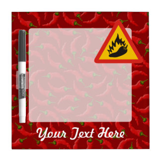 Hot pepper danger sign dry erase boards
