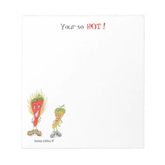 Hot pepper note pad