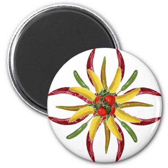 Hot Peppers Refrigerator Magnet