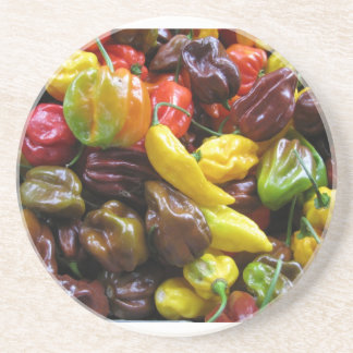 Hot Peppers Yum Beverage Coaster