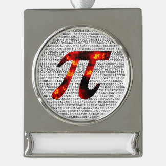 Hot Pi Silver Plated Banner Ornament