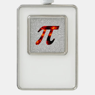 Hot Pi Silver Plated Framed Ornament