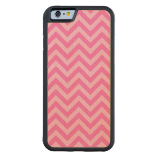 Hot Pink 2, Cotton Candy LG Chevron ZigZag Pattern Carved® Maple iPhone 6 Bumper Case