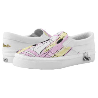 Hot Pink Abstract 001 Slip On Shoes