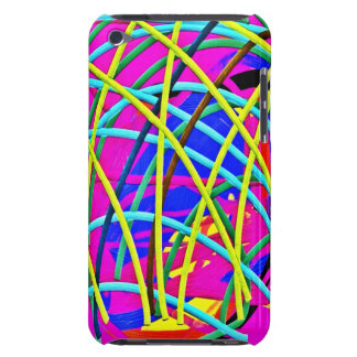 Hot Pink Abstract Girly Doodle Design Novelty Gift Barely There iPod Cases