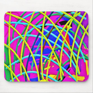 Hot Pink Abstract Girly Doodle Design Novelty Gift Mousepad