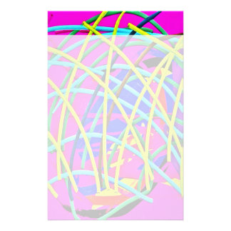 Hot Pink Abstract Girly Doodle Design Novelty Gift Stationery