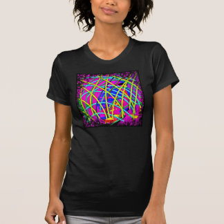Hot Pink Abstract Girly Doodle Design Novelty Gift T-shirt